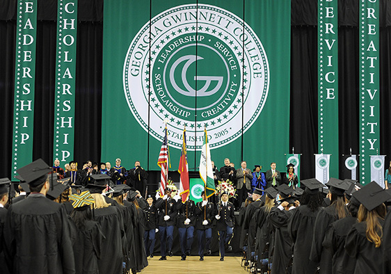 Picture of Georgia Gwinnett College Graduation Ceremony Banner