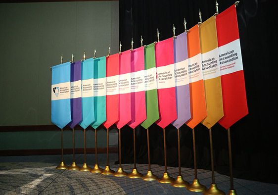 Picture of colorful Graduation Gonfalons