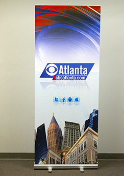 CBS-themed Retractable Banner