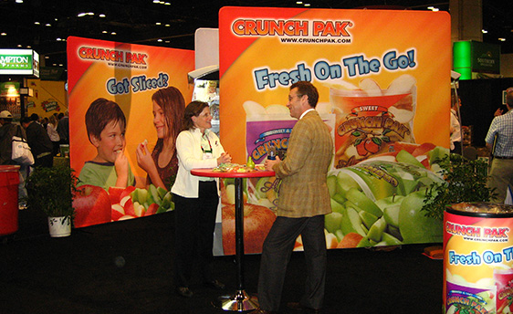 Colorful Portable Display at a Trade Show Event